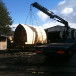 Camping Pods being delivered